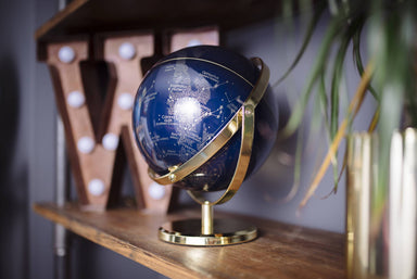 Wild & Wolf 8 - inch Night Sky Globe With Swivel Stand - Home Decor - The Planet Collection - Naiise