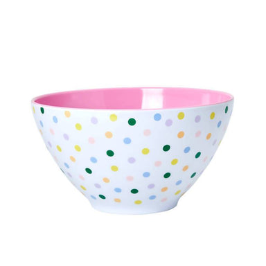 Melamine Salad Bowl with 'Let's Summer' Dots - Two Kitchenware The Children's Showcase