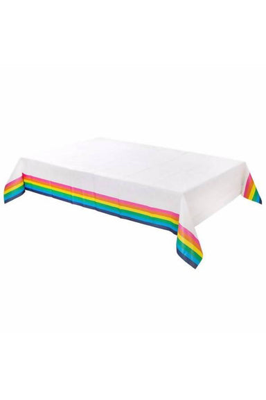 RAINBOW PAPER TABLE COVER (180CM X 120CM) PARTYWARE The Children's Showcase
