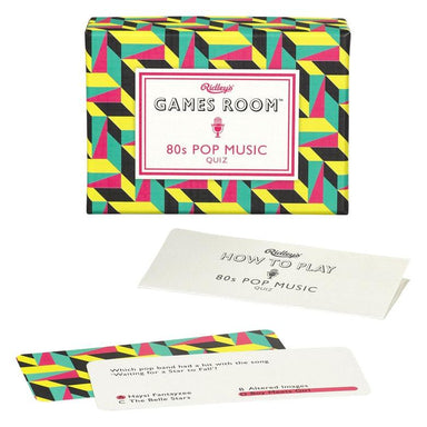 80s Pop Music Quiz Card Games RIDLEY
