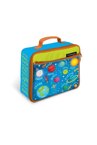 Crocodile Creek Lunch Bags - Solar System light blue Lunch Bags The Children's Showcase