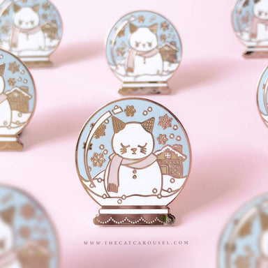 Snow Globe Cat Pin - Brooches - The Cat Inspired - Naiise