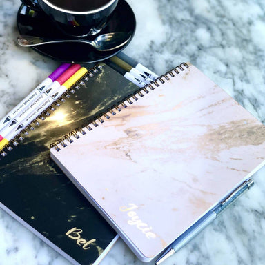 Luxe Marble Notebook (Personalised with Name) - Personalised Notebooks - Prinlux - Naiise