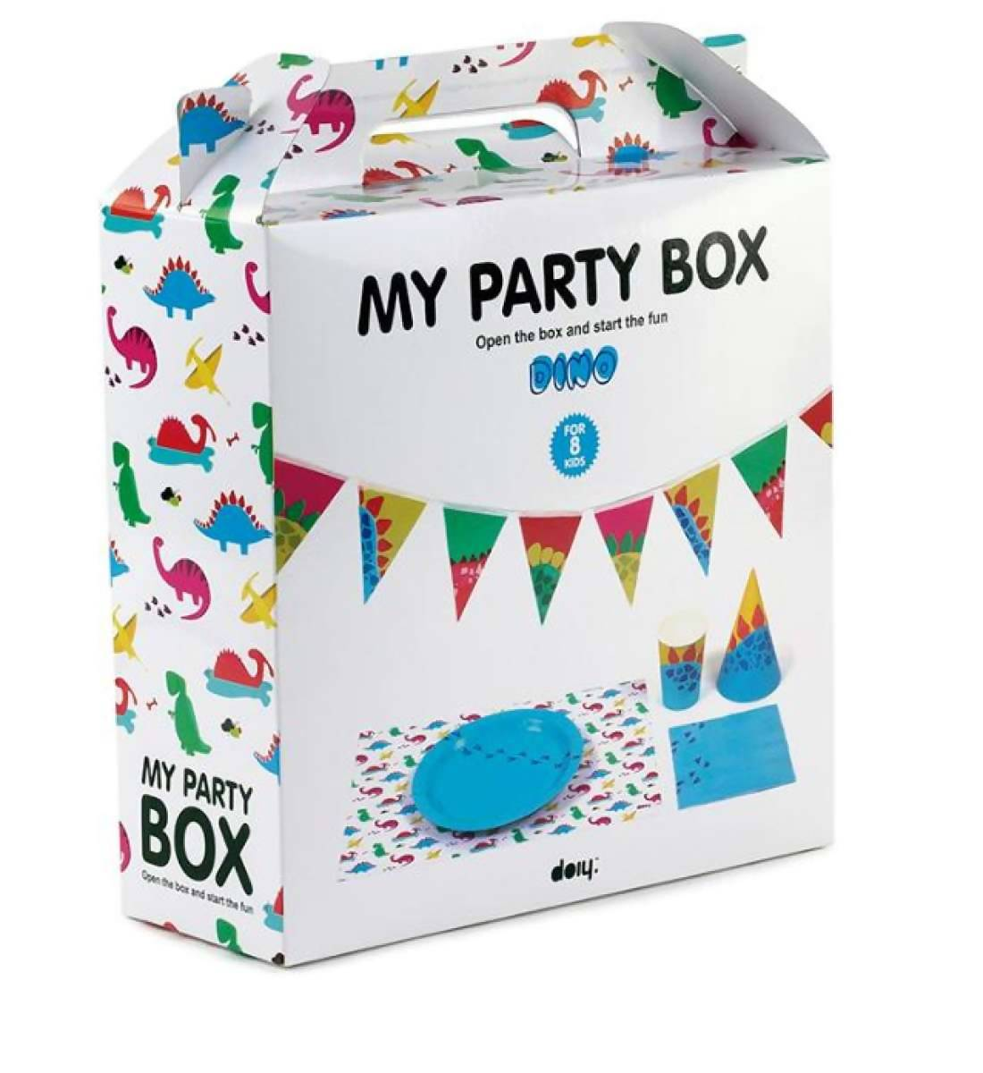 MY PARTY BOX - Dino Party Tableware - Partyware - The Planet Collection - Naiise