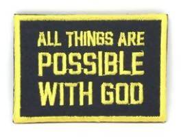 All things are Possible with God Verse-It Velcro Morale Patch - Sticker Patches - The Super Blessed - Naiise