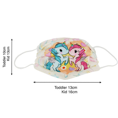 Toddler / Kids Reusable Dri-Fit Face Masks - Twin Unicorn - Fabric Masks - Zigzagme - Naiise