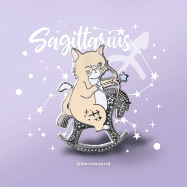 Sagittarius Pin - Brooches - The Cat Inspired - Naiise