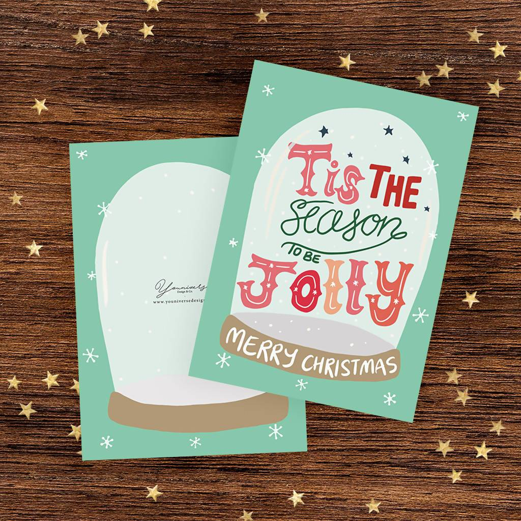 Tis The Season To Be Jolly Christmas Card - Christmas Cards - YOUNIVERSE DESIGN - Naiise