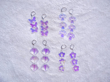 Holographic Chain Earrings - Earrings - Loopy Fruppy - Naiise