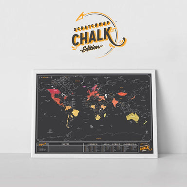 Scratch Map - Chalk Map - Scratch Maps - The Planet Collection - Naiise