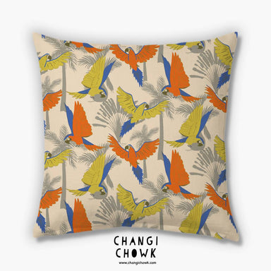 Cushion Cover - Tropical Parrots - Cushion Covers - Changi Chowk - Naiise