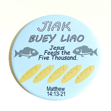 "Magnet - Jiak Buey Liao ( ""I am a Singaporean Christian"" Series) - Local Magnets - The Super Blessed - Naiise"