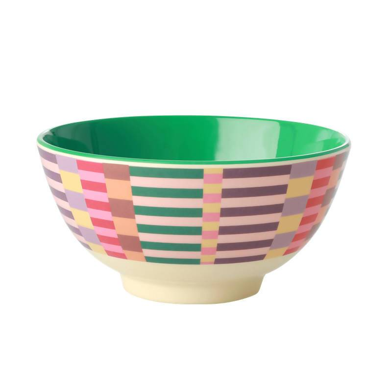 Melamine Bowl with Summer Stripes Print - Medium - Kitchenware - The Children's Showcase - Naiise