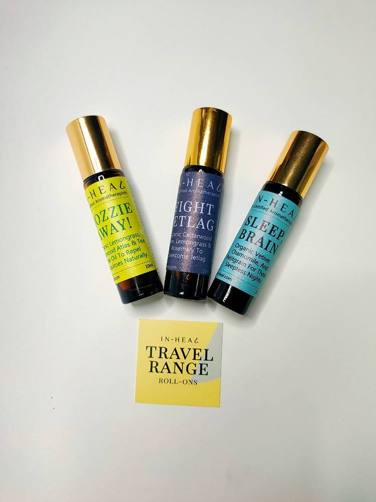 Aromatherapy Oil Roll-On Gift Set - Travel Range - Essential Oil Roll-Ons - IN-HEAL - Naiise