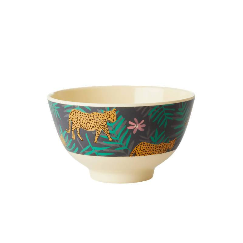 Melamine Bowl with Leopard and Leaves Print - Small - Kitchenware - The Children's Showcase - Naiise