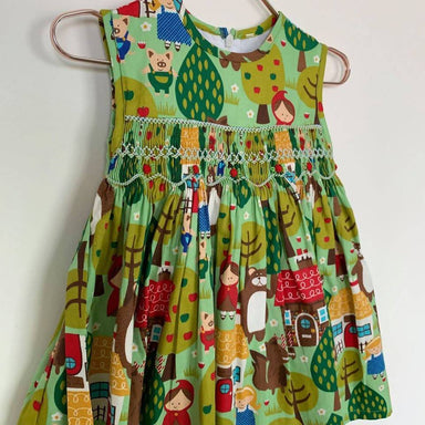 Little Red Riding Hood Dress - Kids Clothing - Smockful Of Love - Naiise