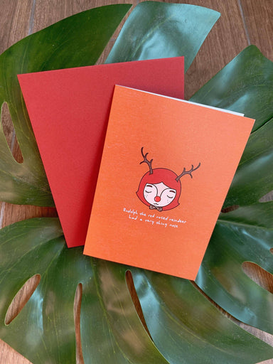 Loop - Rudolph The Red Nosed Reindeer Christmas Card - Christmas Cards - We Are Too Late - Naiise