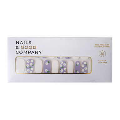 Lilac Blanc Nail Strips - Nail Wraps - Nails & Good Company - Naiise