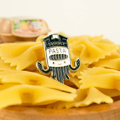Pasta Squid Enamel Pin Pins John Moniker