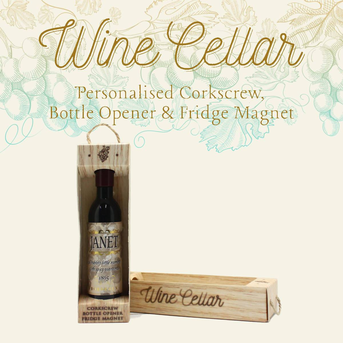 WINE CELLAR - For Wine Lover : Janet - Bottle Openers - La Belle Collection - Naiise