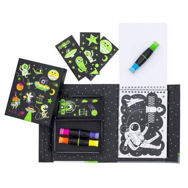 Neon Colouring Sets - Outer Space Kids Activity Kits The Children's Showcase