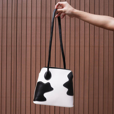 Over the Moo-n Abstract Cow Patch bag Women Bags Colorfull Store Over the Moo-n Abstract Cow Patch bag