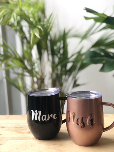 Personalised Eggshell Mug with Lid - Personalised Mugs - KAYSE - Naiise