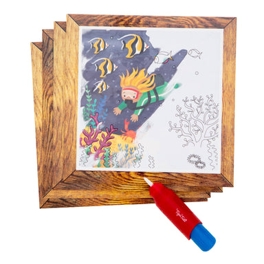 Tiger Tribe Magic Painting World - Ocean - Children Colouring Books - The Children's Showcase - Naiise