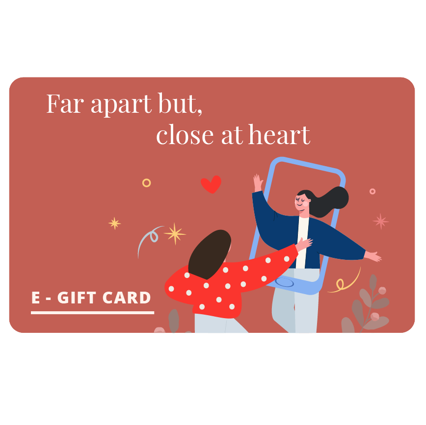 Far Apart But, Close At Heart Gift Card - E-Gift Card - Naiise - Naiise