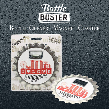 BOTTLE BUSTER - Best Bottle Opener : I Love SG - Bottle Openers - La Belle Collection - Naiise