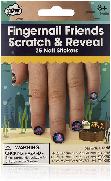 NPW - Fingernail Friends Scratch & Reveal 25 Nail Stickers - Nail Wraps - The Planet Collection - Naiise