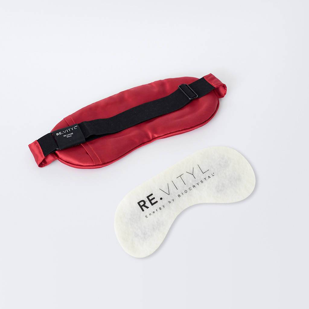RE.LEASE Silk Sleep Mask - Red - Eye Masks - RE.VITYL - Naiise