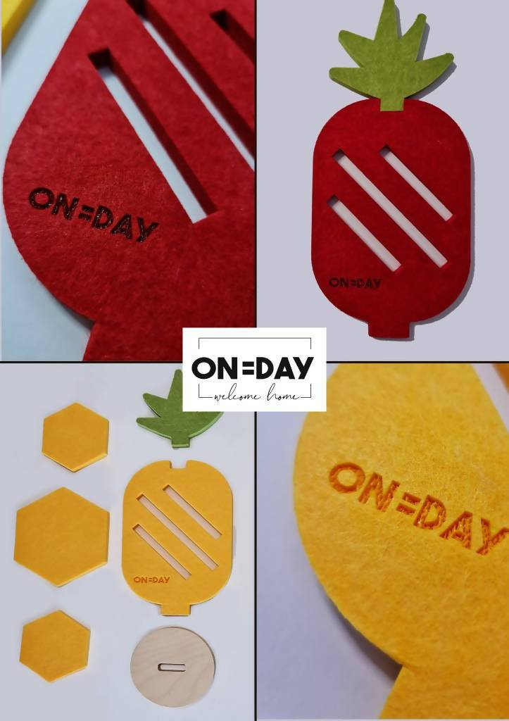 Pineapple Coaster Set (a set of 6) - New Arrivals - OneDay - Naiise