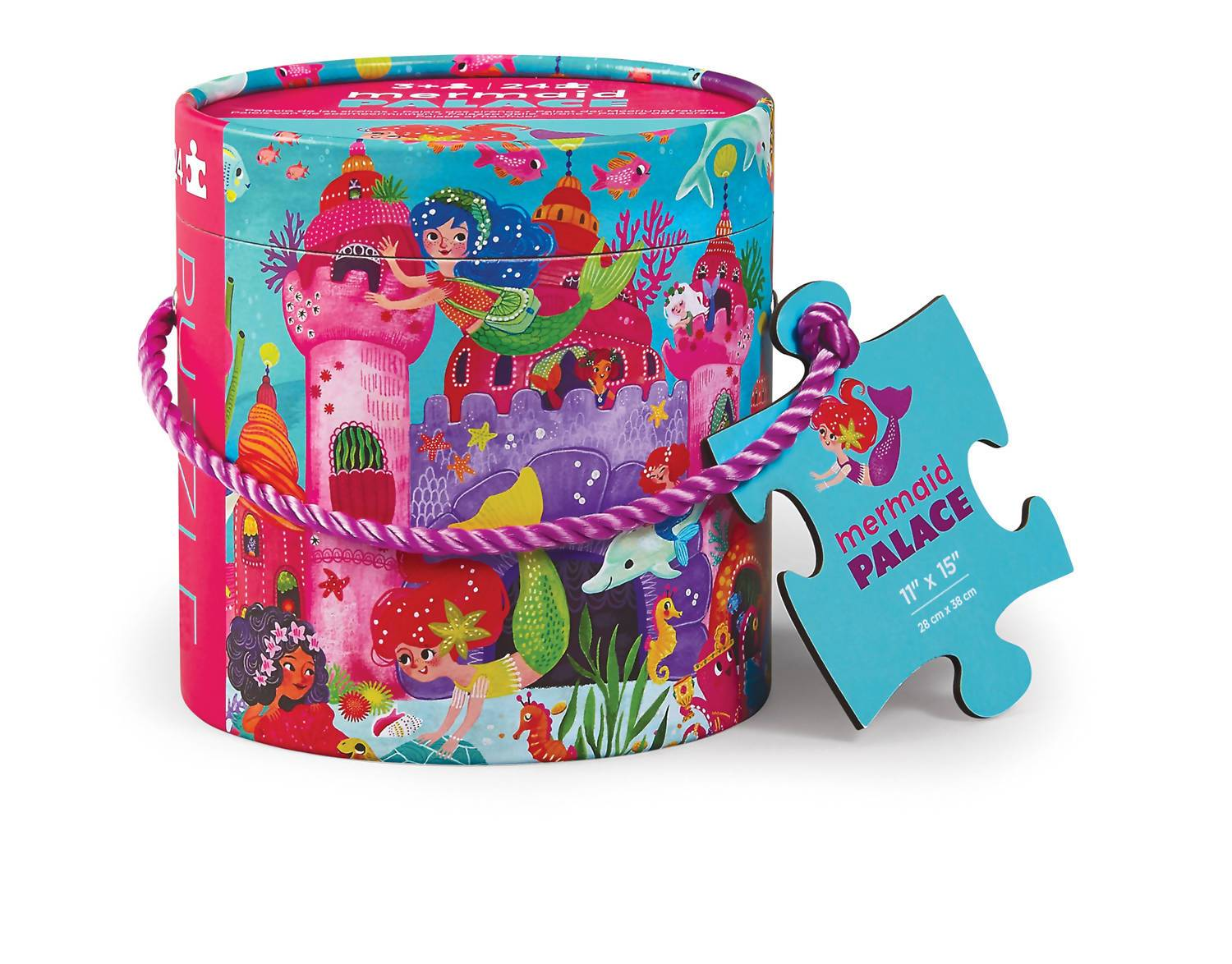 24pc Mini Canister Puzzle - Mermaid Palace - Kids Puzzles - The Children's Showcase - Naiise