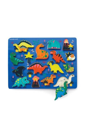 16 Pc Wood Puzzle/ Dinosaur - Kids Puzzles - The Children's Showcase - Naiise
