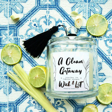 A Clean Getaway Candle - Scented Candles - Wick & Litt - Naiise