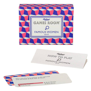 Ridley's Famous Women Quiz - Card Games - The Planet Collection - Naiise