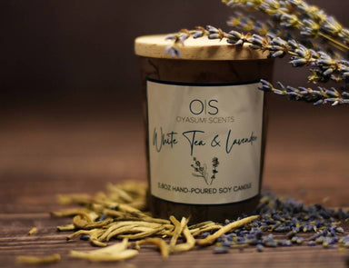 White Tea & Lavender Soy Candle - Scented Candles - Oyasumi Scents - Naiise