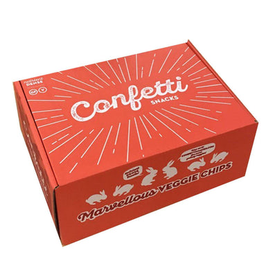 Confetti Pretty Box of 6 - Vegetables/Mushroom Chips Snacks Confetti Snacks Pretty Box of 6
