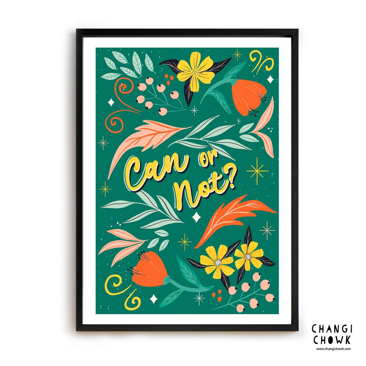 Art Print - Can or Not/Singlish - Local Prints - Changi Chowk - Naiise