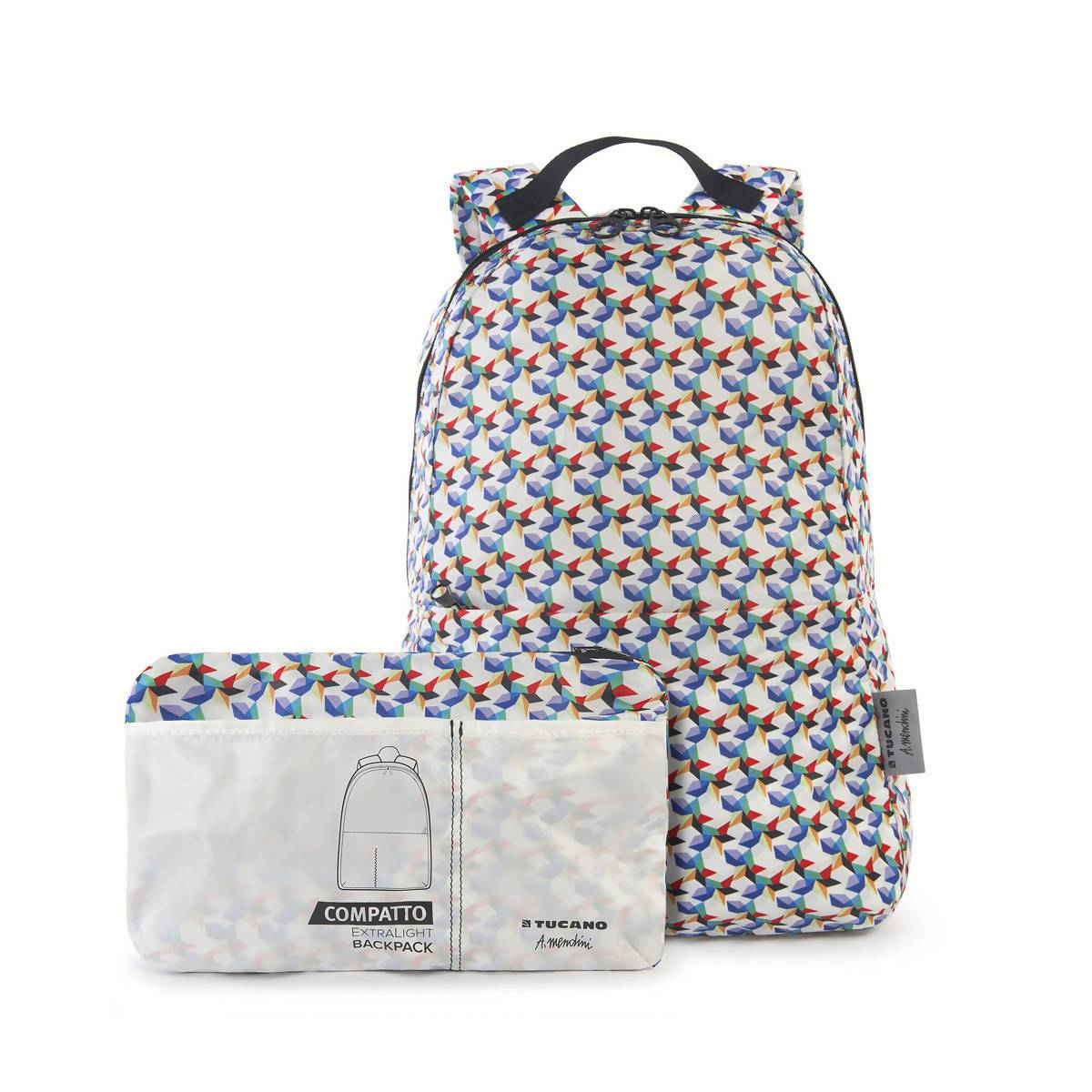 Compact Foldable Backpack Colours / White - New Arrivals - Zigzagme - Naiise