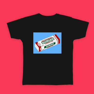 Durian Chewing Gum T-shirt - Local T-shirts - Big Red Chilli - Naiise