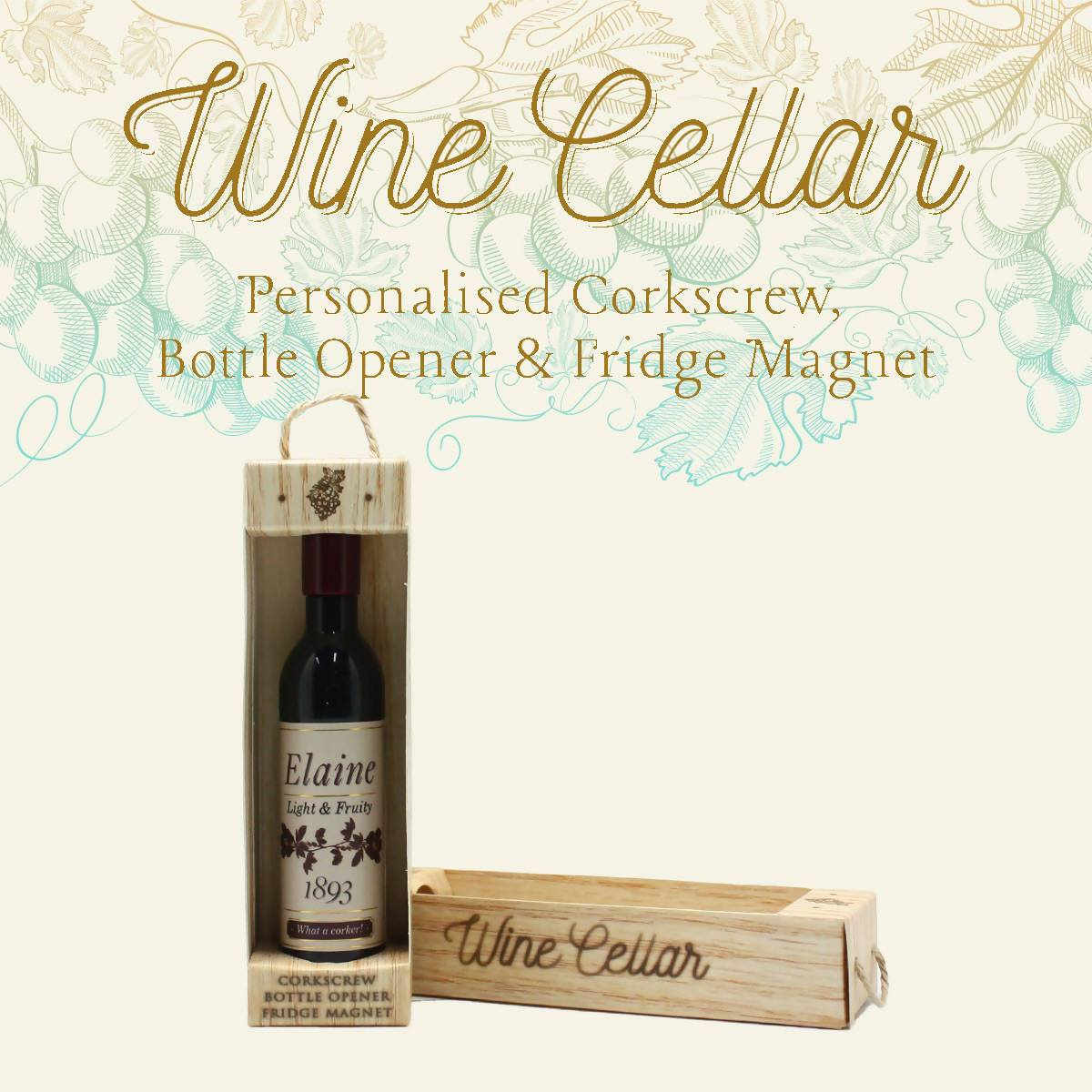 WINE CELLAR - For Wine Lover : Elaine - Bottle Openers - La Belle Collection - Naiise