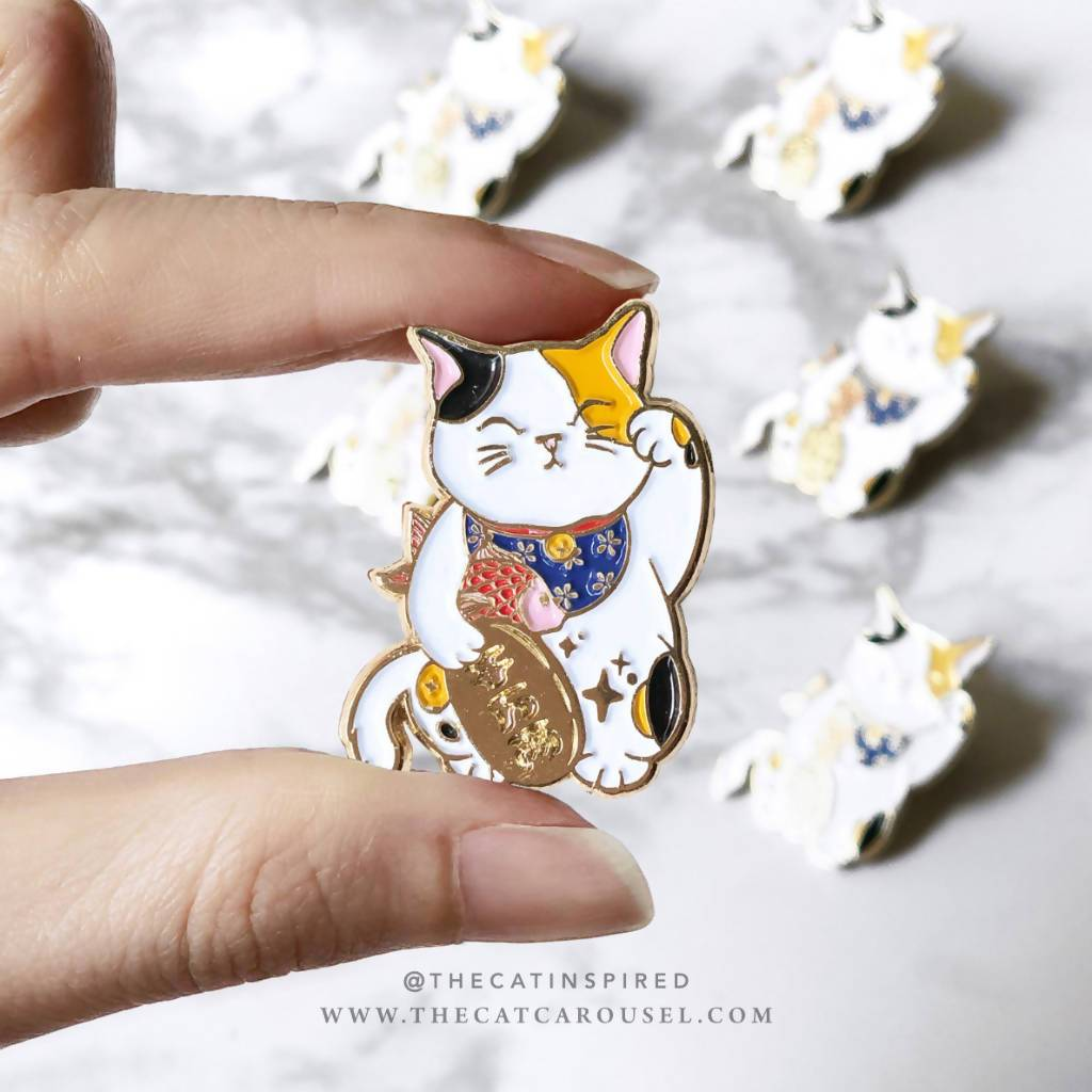 Fortune Cat Pin - Brooches - The Cat Inspired - Naiise