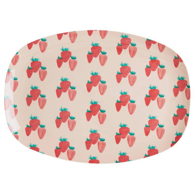 Melamine Rectangular Plate with Strawberry Print - Kitchenware - The Children's Showcase - Naiise