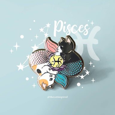 Pisces Pin - Brooches - The Cat Inspired - Naiise