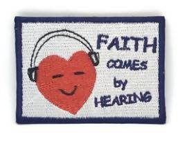 Faith comes by Hearing Verse-It Velcro Morale Patch - Sticker Patches - The Super Blessed - Naiise