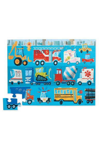 36-Pc Classic Floor Puzzles Vehicles - Kids Puzzles - The Children's Showcase - Naiise