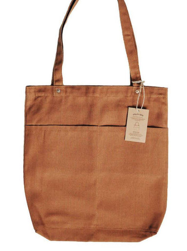 Utility Tote Bag (12oz Brown Canvas) - Tote Bags - Journal Projects - Naiise