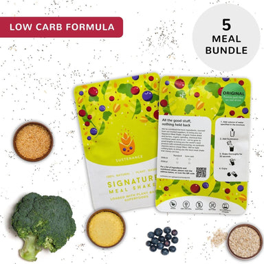 Sustenance Low Carb Meal Shake (Original Oat Flavor) (5 Meal Starter Kit) - Food Kits - Zesty Leaf - Naiise